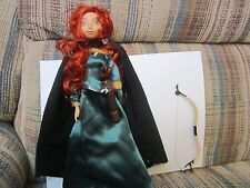 """Disney Store Brave Doll Merida 11"""" with Bow Quiver"""
