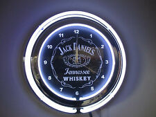 JACK DANIELS   DOUBLE RING NEON WALL CLOCK   **IN STOCK NOW**
