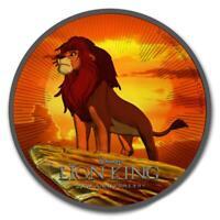 Niue 2019 $2 The Lion King / Der König der Löwen - Ruthenium 1 Oz Silbermünze
