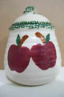 Vintage Rare Apple Porcelain Sugar Bowl With Lid Made In China