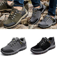 Men's Hiking Travel Shoes Climbing Athletic sneaker Non-slip Lace up Outdoor New