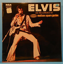 ELVIS PRESLEY AS RECORDED AT MADISON SQUARE GARDEN 72 UK GREAT COND! VG++/VG+!!C