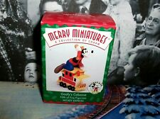 Goofy's Caboose`1998`Merry Miniature-5Th Of 5 Figurines,Hallmark Tree Ornament