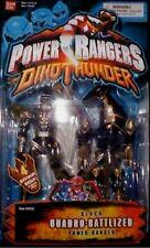 Power Rangers Dino Thunder black Quadro-Battlized Ranger New 4 Modes 2003