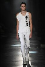 ANN DEMEULEMEESTER White CALF LEATHER Adjustable Straps Tall Boots 45 US-12