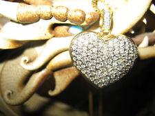 Huge Diamond Heart Pendant  14 Kt  Gold Retail $14,000.00