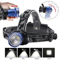 BORUiT XM-L T6 LED Zoom Headlamp Rechargeable 18650 Headlight Flashlight Torch