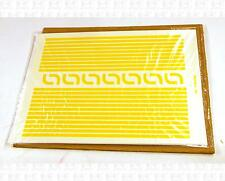 Virnex HO Decals Medium Yellow 1/8 Inches Stripe Set 9163