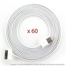 60x 10ft White Data Sync/Charging cable for iPhone 3/3g/3gs/4/4g/4s iPod touch