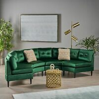 Julian Nora Glam Velvet Modular 4 Seater Sectional