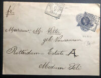 1908 Buitenzorg Netherlands Indies Postal Stationery Cover To Rotterdam Holland
