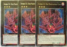 YUGIOH NUMBER C43: HIGH MANIPULATOR OF CHAOS PRIO-EN048 1st EDITION RARE X3
