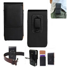 Vertical Belt Clip Good Quality Pouch Holster Top Flip Phone Case Holder Black