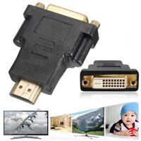 DVI 24+1 DVI-D Female to HDMI Male Video Adapter Converter for PS4 HDTV PC