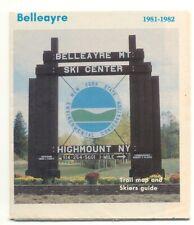 Belleayre Mountain Ski Center Highmount NY 1981-1982 Trail Map DEC Sign Now Gone