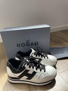 Beautiful HOGAN H222 Damen Sneaker Bianco Nero Gr. 36 NP 340 € TOP