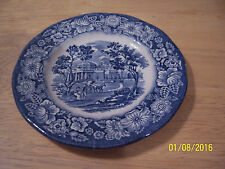 "VINTAGE STAFFORDSHIRE IRONSTONE LIBERTY BLUE MONTICELLO 6"" BREAD BUTTER PLATE"