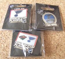 3 - Different 2015 Stanley Cup Playoffs pins NHL St. Louis Blues pin