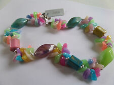 SUMMER PASTEL SHADES MULTI COLOUR CHUNKY RANDOM BEADS 44+ CM New in voile pouch