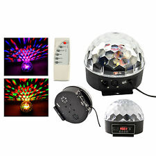 Music Active DMX Crystal Ball LED Stage Lighting Club Disco DJ Party Lights
