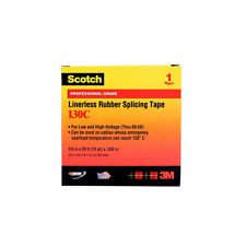 Scotch Linerless Rubber Splicing Tape 130c 1 In X 10 Ft Black
