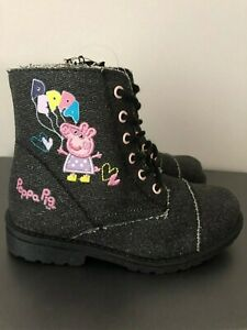 New Peppa Pig Winter Black Girls' Boots - Size 8, 10