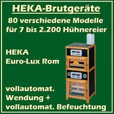 HEKA Euro-Lux Rom - Brutgerät für 130+100 Eier - vollaut. Wendung + Befeuchtung