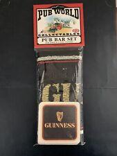 Guinness Bar Towel And Coasters(10) Pub Bar Set.