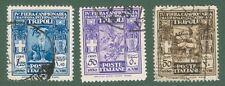 LIBIA. Anno 1930. IV° Fiera di Tripoli. Valori da cent. 30, cent. 50 e lire 1,25