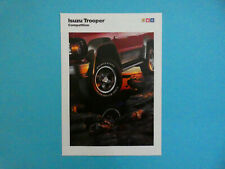 Prospekt / Katalog / Brochure Isuzu Trooper Competition  12/90
