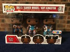Funko POP! Big E Xaviers Woods Kofi Kingston WWE Exclusive 3 Pack