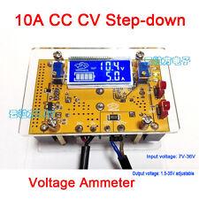10A DC Buck Converter CC CV Step-down Power Supply 12v 5v 24v 19v+ LCD volt amp