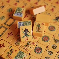 Vtg Chinese Bakelite Mahjong Set, 152 Tiles, Four Wood Racks in Case Mah Jongg
