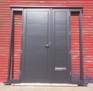 Contemporary design Solid Hardwood Double Doors with Sidelights! Bespoke!