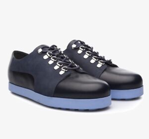 CAMPER Beluga Blue LEATHER LACE UP OXFORD CASUAL SHOES MEN'S EUR 46 USA 13