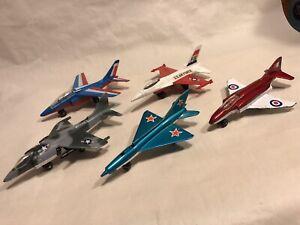 Matchbox Skybusters USAF F16 AV88 Harrier MIG21 French Alpha Jet RAF F4 Phantom