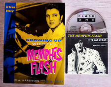 ELVIS PRESLEY THE MEMPHIS FLASH HITS LAS VEGAS RARE CD1994 WITH BOOK GROWING UP