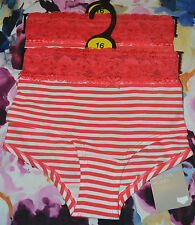 M&S COTTON LOW RISE SHORTS / KNICKERS - WITH STRETCH - 2 PAIR - SIZE 16 - BNWT