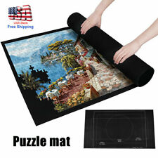 Felt Storage Mat Jigsaw Puzzle Roll Up Puzzle Storage Up To 1500 Pieces Game v*