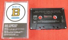 BAD COMPANY CASSETTE TAPE - FAME AND FORTUNE