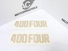 Honda CB 400 Four F F1 Aufkleber Seitendeckel Emblem Set gold Reproduktion