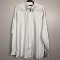 Broletto Long Sleeve Button Shirt Men's White/Multicolor Size16 1/2  36/37 100%