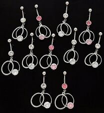 Circle 14g Wholesale Gem Fancy Navel 817 5 Cz Dangle Belly Button Rings Braided