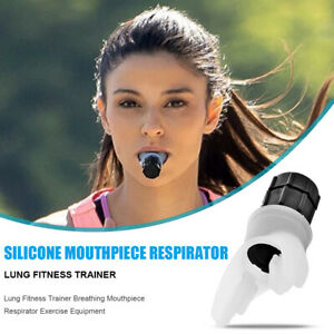 Lung Fitness Trainer Breathing Mouthpiece Respirator Exercise Equipment