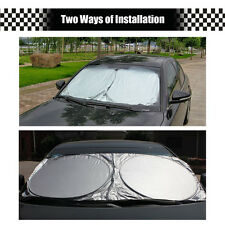 Car Front Windows Sun Shield Wind Shield Cover UV Visor Shade 150*70cm Silver