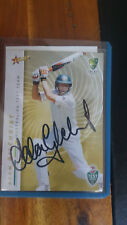 ADAM GILCHRIST SELECT TEST  TEAM  SIGNED CARD