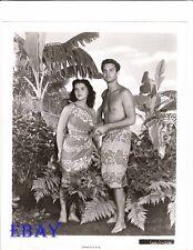 Louis Jourdan barechested, Debra Paget VINTAGE Photo Bird Of Paradise