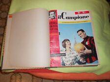 CALCIO RIVISTA IL CAMPIONE 1955  ANNATA  COMPLETA  RILEGATA 1/15 COMPRESO 12 BIS