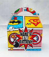 Marvel Superhero Comic Children's Personalised Party Boxes Favour 1ST CLASS