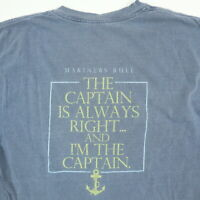 Comfort Colors Bald Head Island NC T-Shirt SMALL Soft Faded Blue Mariners Rule